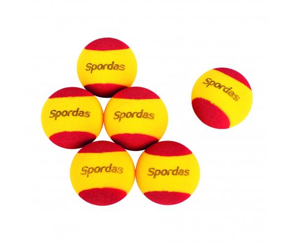 Foam tennisbal, set van 6