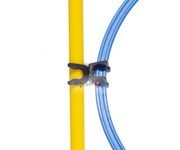 Multifunctionele clip voor hoepels en stokken