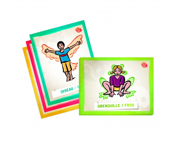 Kinderyoga instructiekaarten voor leraren