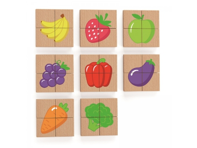 Magneetpuzzel Fruit, 32-delig