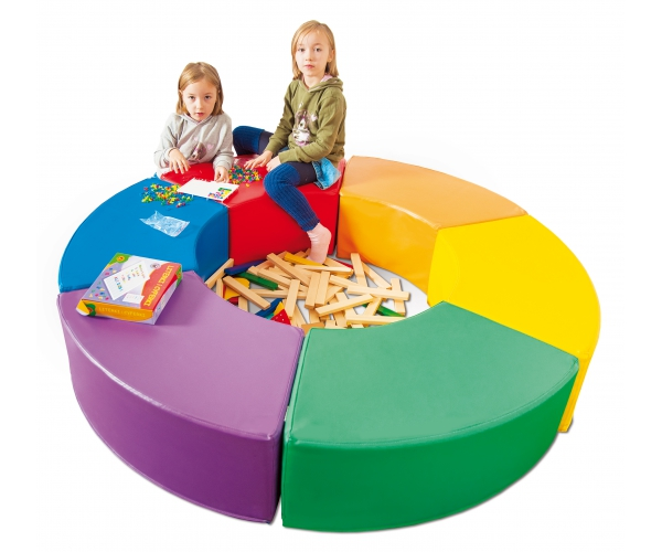 Soft Play foam Lounge Rainbow