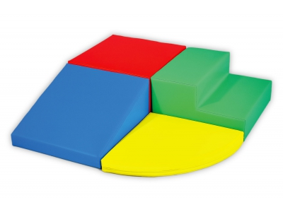 Soft Play foam blokken set 3, 4-delig