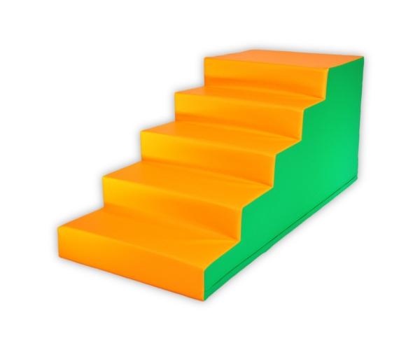 Soft Play foam speelblok trap, 50 x 50 x 100 cm
