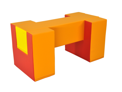 Soft Play foam speelblok brug, 50 x 50 x 100 cm