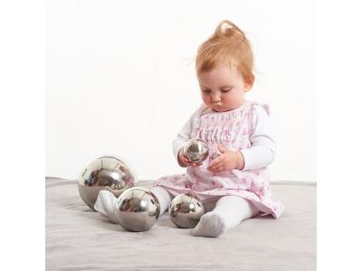 Reflecterende spiegelballen, set van 4