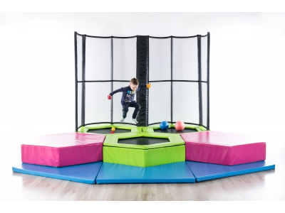 Mini Jump Trampolinepark Kleuters/Peuters, 3 trampolines