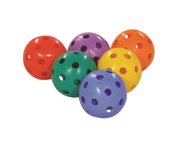 Unihockey ballen/ gatenballen voor tennisracket, set van 6